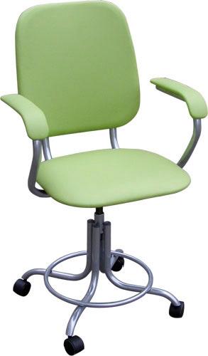 Кресло медицинское М101-01 с подлокотниками на винтовой опоре