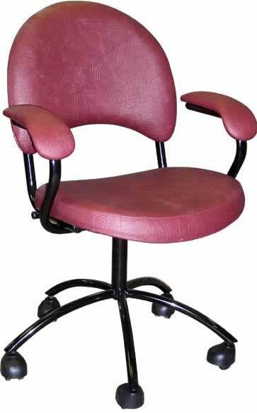 Кресло медицинское М103 ЛЮКС на винтовой опоре с подлокотниками