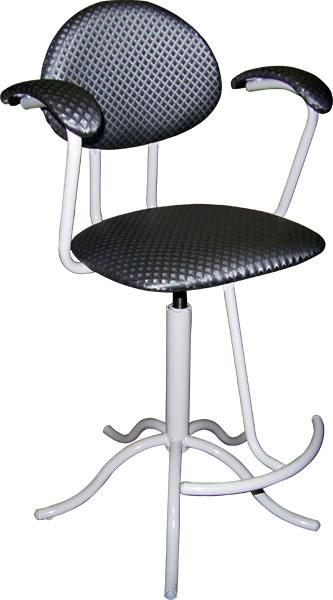 Кресло вращающееся М105 на винтовой опоре, со съёмной подножкой,