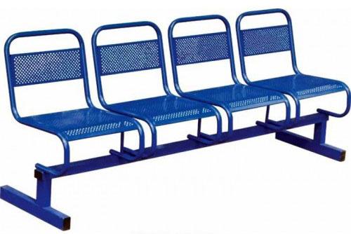 Секция стульев М112-01 4-х местная на металлической раме перфорированные.