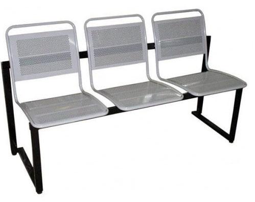 Секция стульев М112-012/013/014 на металлической раме 2-х/3-х/4-х местная перфорированные со съемными сиденьями.