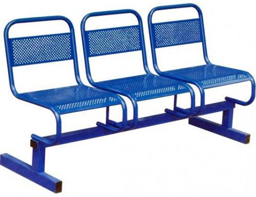 Секция стульев М112-03 3-х местная на металлической раме перфорированные.