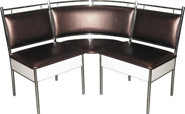 Угловой диван с ящиками М124-023 на металлическом каркасе