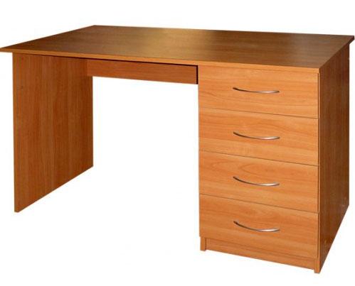 Стол офисный компьютерный М142.45 без выдвижной полки, с 4-мя ящиками