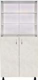 Медицинские шкафы двухстворчатые с дверцами в нижнем отсеке, 2 открытые полки стекло М202-032
