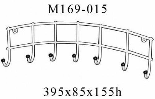 Навесная металлическая вешалка М169-015 настенная