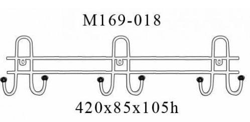 Навесная вешалка металлическая М169-018 настенная