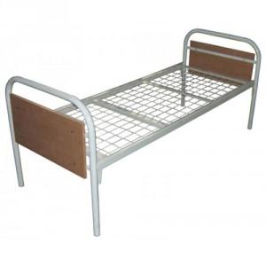 Кровать палатная металлическая ОП-181-02/3 с деревянными спинками