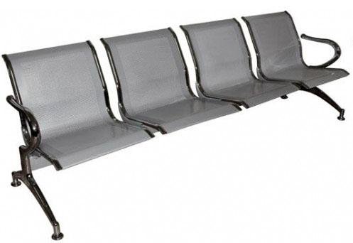 Секция стульев J-19-4 четырехместная разборная на металлической раме перфорированные с мягкими накладками.