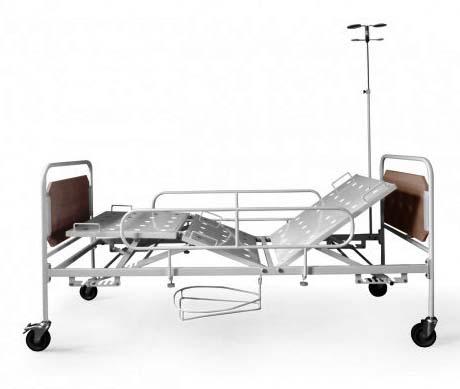 Кровать медицинская функциональная трехсекционная 182-08 механическая, для лежачих больных