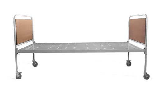 Кровать медицинская для пациентов 182-014 передвижная с перфорированным листом