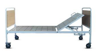 Кровать медицинская металлическая передвижная 180-016/1 с регулируемым подголовником.