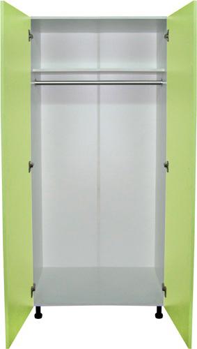 Шкаф для одежды (гардероб) арт. М202-04  2-х дверные  ЛДСП с дверцами медицинские