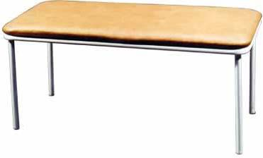 Банкетка - скамейка 2-х местная М111/2 на металлическом каркасе.