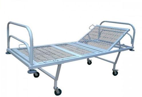 Кровать медицинская функциональная М182-04 двухсекционная с регулируемым подголовником