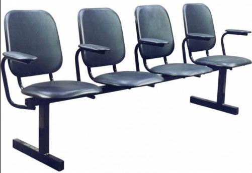 Секция стульев М114 на металлической раме 3-х местная с мягкими сиденьями.