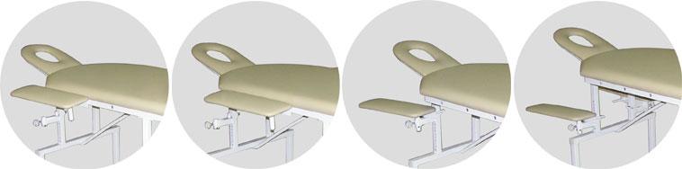 Различные варианты размещения съемных подлокотников