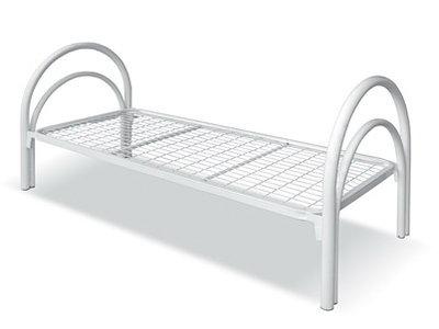 Кровать общебольничная металлическая с сеткой 50*100мм.