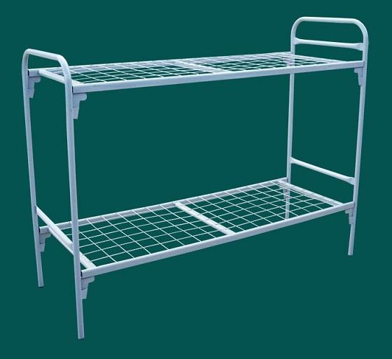 Кровать металлическая двухярусная с сеткой 100*100 мм.