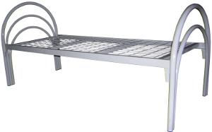 Кровать для медицинских учреждений с сеткой 50*100 мм с круглой спинкой.