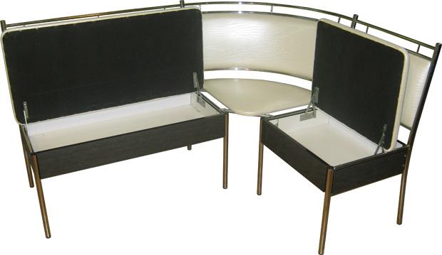 Угловой диван с ящиками М124-02 на металлическом каркасе