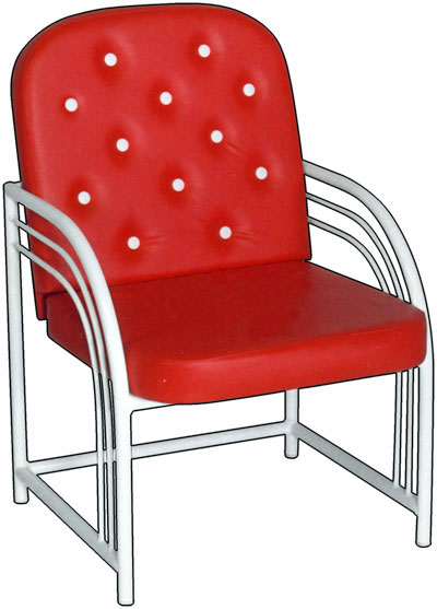 Кресло для посетителей М 117-02 на металлическом каркасе