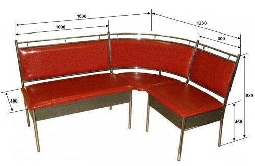 Система мебели  М124-02 - угловой вариант изготовления.