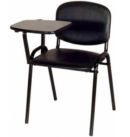 Стул офисный М36-01 мягкий со столиком откидным на металлической раме  на металлической раме.