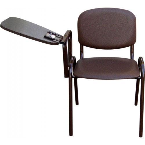 Стул офисный М36-01 мягкий со столиком откидным на металлической раме.