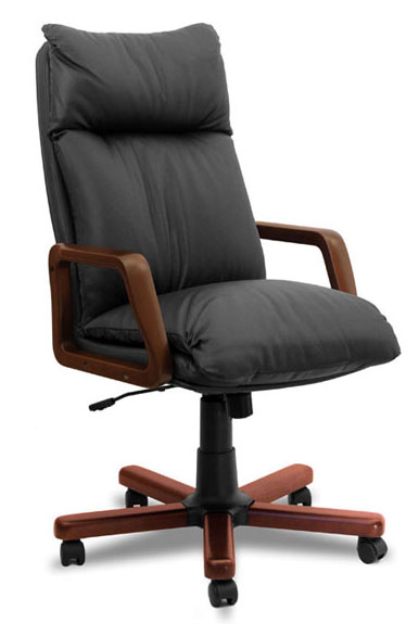 Кресло офисное Надир с механизмом качания с регулировкой по высоте с подлокотниками.