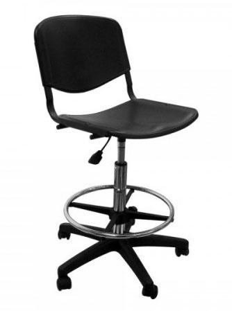 Кресло лабораторное ТЕКО высокое с кольцом для ног (медицинский стул)