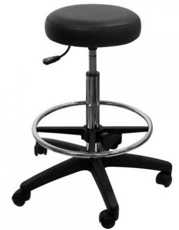 Табурет лабораторный Т2 высокий (табурет медицинский) с мягким сиденьем с кольцом с пневмоподъемником (газлифт).