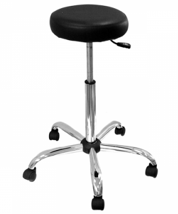 Табурет лабораторный Т2 низкий (табурет медицинский) с мягким сиденьем с пневмоподъемником (газлифт).