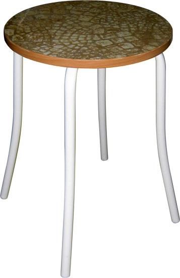 Табурет - стул М91-01 на металлической раме с круглым сиденьем.