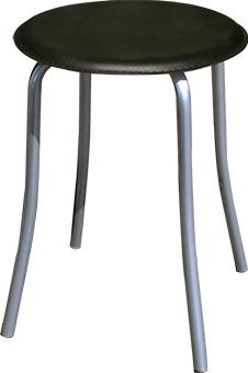 Табурет - стул М91-01 на металлической раме. Круглое сиденье.