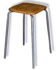 Табурет - стул М91 на металлической раме с квадратным сиденьем.