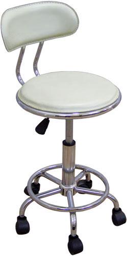 Медицинский стул HC-303 (стул лабораторный) со спинкой имеет гальванический каркас, оснащенный системой газлифт