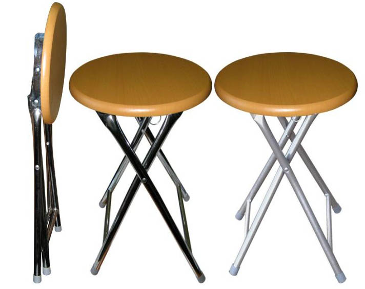 Табурет-стул складной YJ813HW  на стальном каркасе цвет металлик.