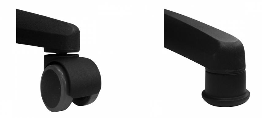 Стул лабораторный Эко можно заказать с роликами или стационарными стопками