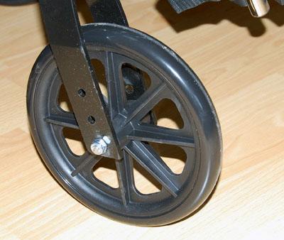 Инвалидная коляска - кресло LK6108-46BDFPQ регулируемая по ширине со стальной рамой