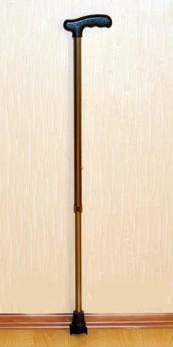 Трость телескопическая алюминиевая с универсальной пластмассовой ручкой арт. ТР1(ПР)