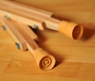 Костыли подмышечные деревянные с мягкими ручками 01-КИ с анатомическим подмышечником