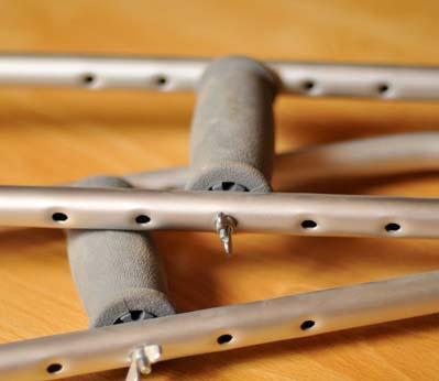 Костыли подмышечные алюминиевые LK 3010 (А) с анатомическим подмышечником