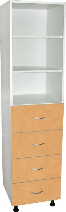Шкафы для документов одностворчатые с арт. М202-021, 22, 23, 24 полочные ЛДСП с 4-я ящиками