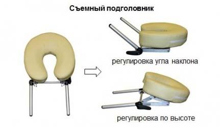 Массажный стол складной  AT006A на алюминиевом каркасе многофункциональный