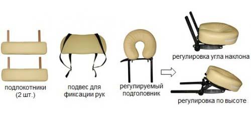 Массажный стол складной деревянный WT006A