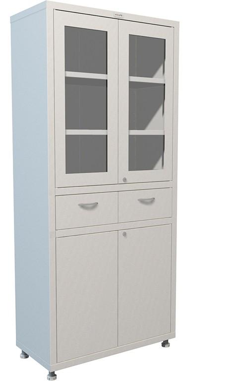 Шкаф-витрина металлический Н203-02R-2