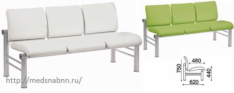 Многоместная секция стульев КС-107