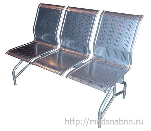 Секция стульев СС-438 на металлической раме 2-х секционная
