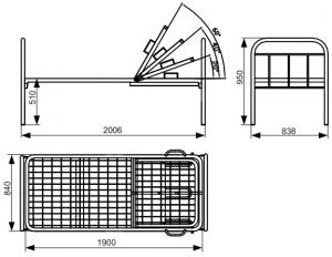 Кровать одинарная 151.09 с регулируемым подголовником